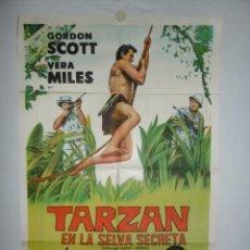 Cine: TARZAN EN LA SELVA SECRETA- 110 X 75 - 1955 - LITOGRAFICO. Lote 222526943