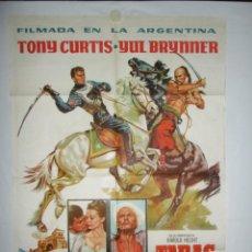Cine: TARAS BULBA - 110 X 75 - 1962 - LITOGRAFICO. Lote 222527001