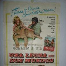 Cine: UNA LEONA DE DOS MUNDOS - 110 X 75 - 1966 - LITOGRAFICO. Lote 222527072