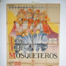 Cine: LOS TRES MOSQUETEROS - 110 X 75 - 1946 - LITOGRAFICO. Lote 222527356