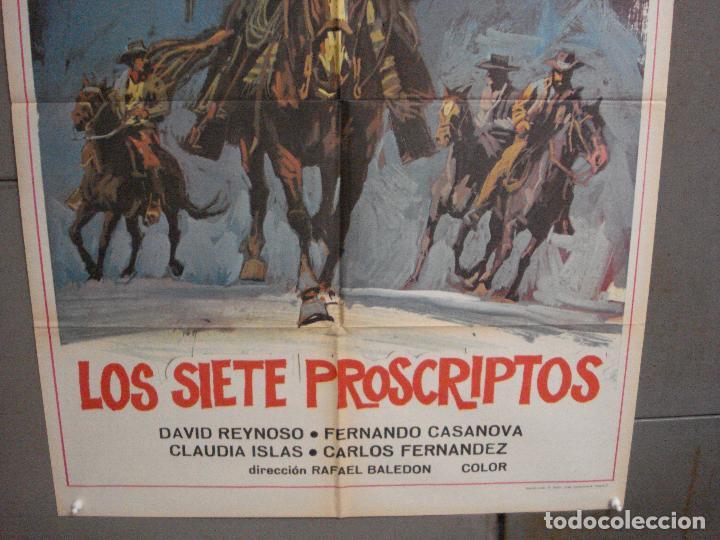 Cine: CDO 6575 LOS SIETE PROSCRIPTOS DAVID REYNOSO RAFAEL BALEDON POSTER ORIGINAL 70X100 ESTRENO - Foto 3 - 222536068