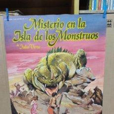 Cine: MISTERIO EN LA ISLA DE LOS MONSTRUOS. JULIO VERNE. CARTEL ORIGINAL 70X100. Lote 222537758