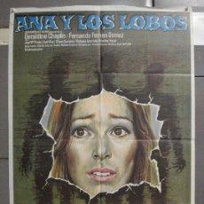 Cine: CDO 6581 ANA Y LOS LOBOS CARLOS SAURA MAC POSTER ORIGINAL 70X100 ESTRENO. Lote 222538516