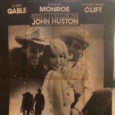 Cine: CARTEL ORIGINAL DE LA PELÍCULA MISFITS. MARYLIN MONROE, CLARK GABLE, MONTGOMERY CLIFT.. Lote 222546708