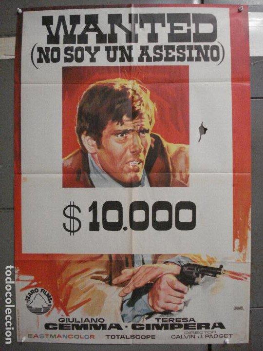 CDO 6594 WANTED GIULIANO GEMMA TERESA GIMPERA GERMAN COBOS SPAGHETTI POSTER ORIGINAL 70X100 ESTRENO (Cine - Posters y Carteles - Westerns)