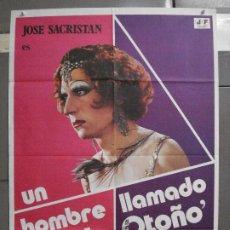 Cinéma: CDO 6595 UN HOMBRE LLAMADO FLOR DE OTOÑO JOSE SACRISTAN PEDRO OLEA POSTER ORIGINAL 70X100 ESTRENO. Lote 222547206