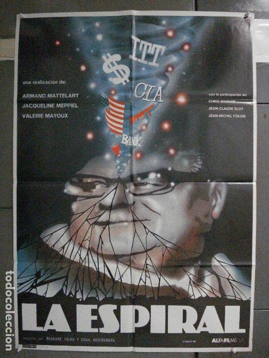 CDO 6600 LA ESPIRAL MATTELART MEPPIEL MAYOUX DOCUMENTAL POSTER ORIGINAL 70X100 ESTRENO (Cine - Posters y Carteles - Documentales)