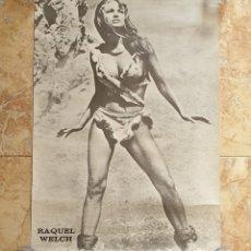 Cine: POSTER ORIGINAL FANS RAQUEL WELCH EN PELICULA HACE UN MILLON DE AÑOS AÑO 1971 MIY RARO UNICO EN TC. Lote 222563355