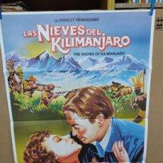 Cine: LAS NIEVES DE KILIMANJARO AVA GARDNER GREGORY PECK SUSAN HAYWARD POSTER 70X100. Lote 222584105