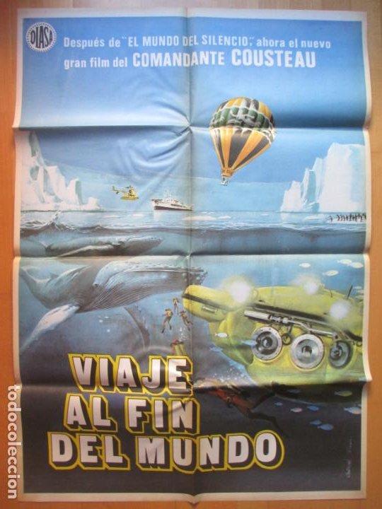 CARTEL CINE VIAJE AL FIN DEL MUNDO COMANDANTE COUSTEAU C1932 (Cine - Posters y Carteles - Documentales)