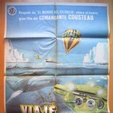 Cine: CARTEL CINE VIAJE AL FIN DEL MUNDO COMANDANTE COUSTEAU C1932. Lote 222628993