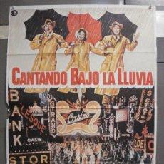 Cine: CDO 6637 CANTANDO BAJO LA LLUVIA GENE KELLY DEBBIE REYNOLDS POSTER ORIGINAL 70X100 R-82. Lote 222656582