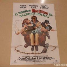 Cinema: EL HERMANO MÁS LISTO DE SHERLOCK HOLMES CARTEL ORIGINAL ESTRENO 1975 GENE WILDER, MARTY FELDMAN. Lote 222665142