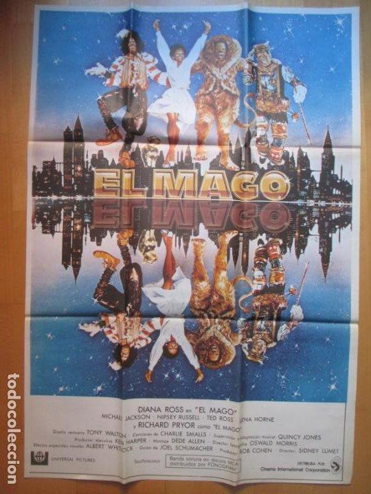 CARTEL CINE EL MAGO DIANA ROSS MICHAEL JACKSON C1938 (Cine - Posters y Carteles - Musicales)