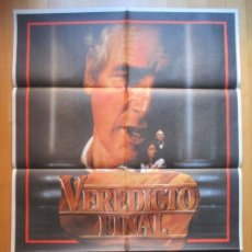 Cine: CARTEL CINE VEREDICTO FINAL PAUL NEWMAN CHARLOTTE RAMPLING 1983 C1944. Lote 222667121