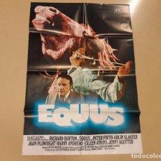 Cine: EQUUS CARTEL ORIGINAL ESTRENO 1977 SIDNEY LUMET, RICHARD BURTON. Lote 222672847