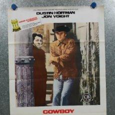 Cine: COWBOY DE MEDIANOCHE. DUSTIN HOFFMAN, JON VOIGHT. POSTER ORIGINAL 70 X 50. Lote 222682870