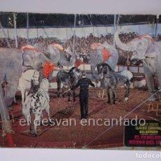 Cine: EL FABULOSO MUNDO DEL CIRCO. JOHN WAYNE. CARTELERA CARTÓN. COLOR. 33 X 23 CTM. Lote 222813018