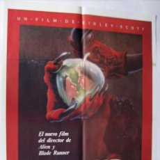 Cine: LEGEND, CON TOM CRUISE. PÓSTER. 70 X 100 CMS. 1985.. Lote 222843213