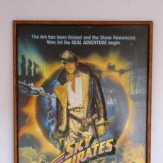 Cine: POSTER RELIEVE VINTAGE DE VIDEOCLUB AÑOS 80 SKY PIRATES CARTEL CINE RETRO DECORACIÓN MURAL POP. Lote 222893901