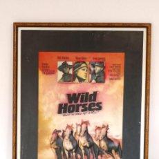 Cine: POSTER RELIEVE VINTAGE DE VIDEOCLUB AÑOS 80 WILD HORSES CARTEL CINE RETRO DECORACIÓN MURAL POP. Lote 222894073
