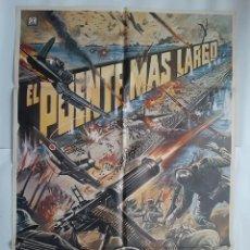 Cinema: ANTIGUO CARTEL CINE EL PUENTE MAS LARGO 1982 R22. Lote 223017410