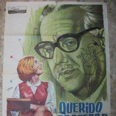 Cine: QUERIDO PROFESOR 1966 ALFONSO PASO IRENE CAVA GALLARDO CARTEL DE CINE 100 X 70 CM. POSTER ESPAÑA. Lote 223259768