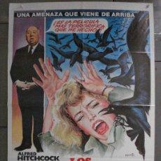 Cine: QP06 LOS PAJAROS ALFRED HITCHCOCK TIPPI HEDREN ROD TAYLOR MATAIX POSTER ORIGINAL 70X100 ESPAÑOL. Lote 296716563