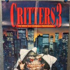 Cine: CRITTERS 3. TAIMEE BROOKS, DON KEITH OPPER, JOHN CALVIN. POSTER ORIGINAL. Lote 223326540