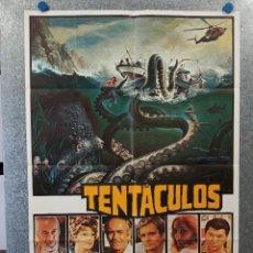 Cinema: TENTÁCULOS. JOHN HUSTON, SHELLEY WINTERS, BO HOPKINS, HENRY FONDA. AÑO 1977. POSTER ORIGINAL. Lote 223327556