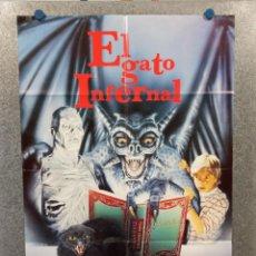 Cine: EL GATO INFERNAL. DEBORAH HARRY, DAVID FORRESTER, MATTHEW LAWRENCE. POSTER ORIGINAL. Lote 223360923