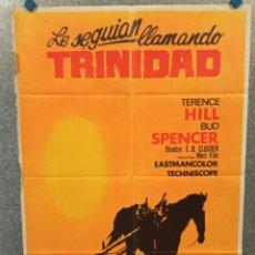 Cine: LE SEGUÍAN LLAMANDO TRINIDAD. TERENCE HILL, BUD SPENCER. AÑO 1972. POSTER ORIGINAL. Lote 223362607