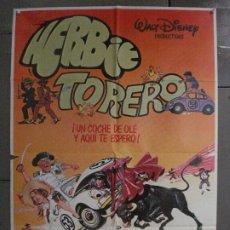Cine: CDO 6695 HERBIE TORERO WALT DISNEY AUTOMOVILISMO VOLKSWAGEN TOROS POSTER 70X100 ESTRENO. Lote 223364425
