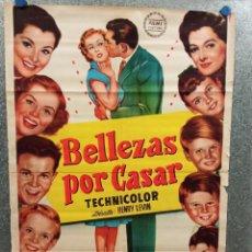 Cine: BELLEZAS POR CASAR. JEANNE CRAIN, MYRNA LOY, DEBRA PAGET, JEFFREY HUNTER. POSTER ORIGINAL. Lote 223378896