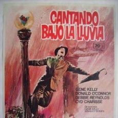 Cinema: CANTANDO BAJO LA LLUVIA, CON GENE KELLY. POSTER REPRODUCCIÓN 66 X 96 CMS.. Lote 223404976