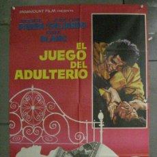 Cine: CDO 6738 EL JUEGO DEL ADULTERIO VICENTE PARRA JUAN LUIS GALIARDO BLANK JANO POSTER ORIGINAL 70X100. Lote 223482550