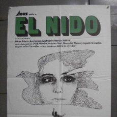 Cine: CDO 6759 EL NIDO JAIME DE ARMIÑAN HECTOR ALTERIO ANA TORRENT POSTER ORIGINAL 70X100 ESTRENO. Lote 223499527