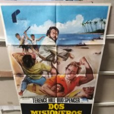 Cine: DOS MISIONEROS TERENCE HILL BUD SPENCER POSTER ORIGINAL 70X100 YY (2456). Lote 223574551