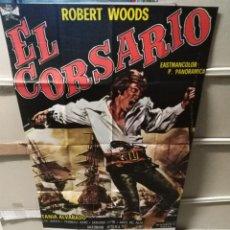 Cine: EL. CORSARIO ROBERT WOODS POSTER ORIGINAL 70X100 YY (2457). Lote 223576076