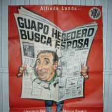 Cine: GUAPO HEREDERO BUSCA ESPOSA ALFREDO LANDA DISEÑO JANO POSTER ORIGINAL 70X100 YY(2467). Lote 223589648