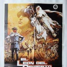 Cinema: ERROR DE IMPRENTA EL LEON DEL DESIERTO ANTIGUO CARTEL CINE FALTA UNA -N- ANTHONY QUIN R111. Lote 223767122
