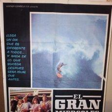 Cine: EL GRAN MIÉRCOLES JOHN MILIUS CULT SURF WILLIAM KATT POSTER ORIGINAL 70X100. Lote 223773786