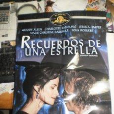 Cine: POSTER PLEGABLE WOODY ALLEN DEL FILM RECUERDOS DE UNA ESTRELLA 48 X 36 CM (SEMINUEVO). Lote 223836188