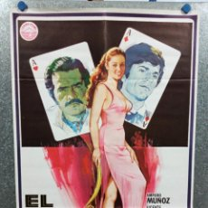 Cine: EL TAHÚR. VICENTE FERNÁNDEZ, JORGE RIVERO, MARTHA D'CASTRO, AMPARO MUÑOZ, AÑO 1979 POSTER ORIGINAL. Lote 223847827