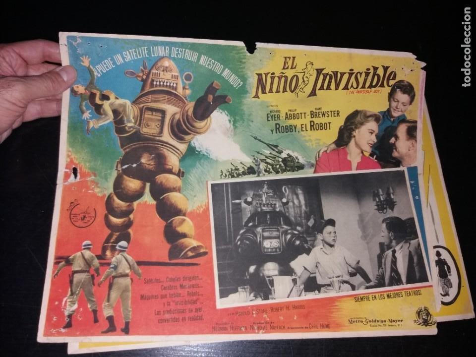 DIFÍCIL LOBBY CARD EL NIÑO INVISIBLE (Cine - Posters y Carteles - Ciencia Ficción)