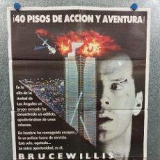 Cine: LA JUNGLA DE CRISTAL. BRUCE WILLIS, BONNIE BEDELI AÑO 1988. POSTER ORIGINAL. Lote 223890741