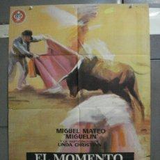 Cine: CDO 6812 EL MOMENTO DE LA VERDAD FRANCESCO ROSI MIGUEL MATEO MIGUELIN TOROS POSTER 70X100 ESTRENO. Lote 223938397