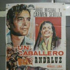 Cine: CDO 6820 UN CABALLERO ANDALUZ CARMEN SEVILLA JORGE MISTRAL TOROS POSTER ORIGINAL 70X100 R-69. Lote 223944007