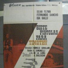 Cine: CDO 6821 7 PISTOLAS PARA LOS MACGREGOR ROBERT WOODS JANO POSTER ORIGINAL 70X100 ESTRENO. Lote 223945287