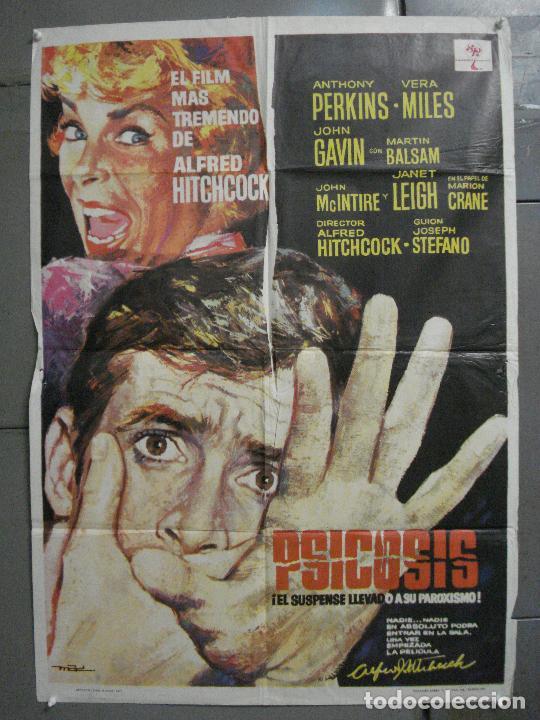 AAP51D PSICOSIS PSYCHO ALFRED HITCHCOCK PERKINS MAC POSTER ORIGINAL 70X100 ESPAÑOL R-71 (Cine - Posters y Carteles - Suspense)